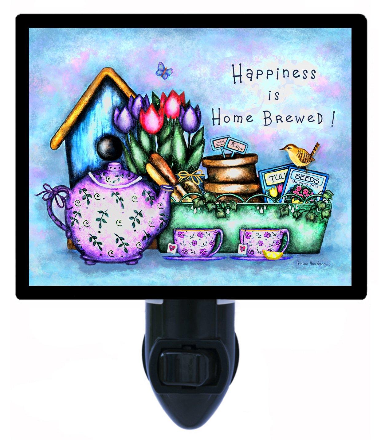 キッチンNight Light – 幸福はホームBrewed – 国Tea B006Q1KK1Q