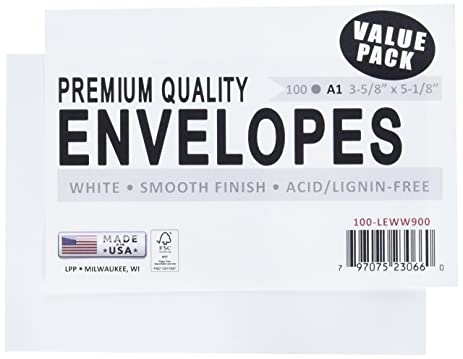 Amazon.com: Leader Paper Products A1100 A1 Envelope, 3.625 by ...