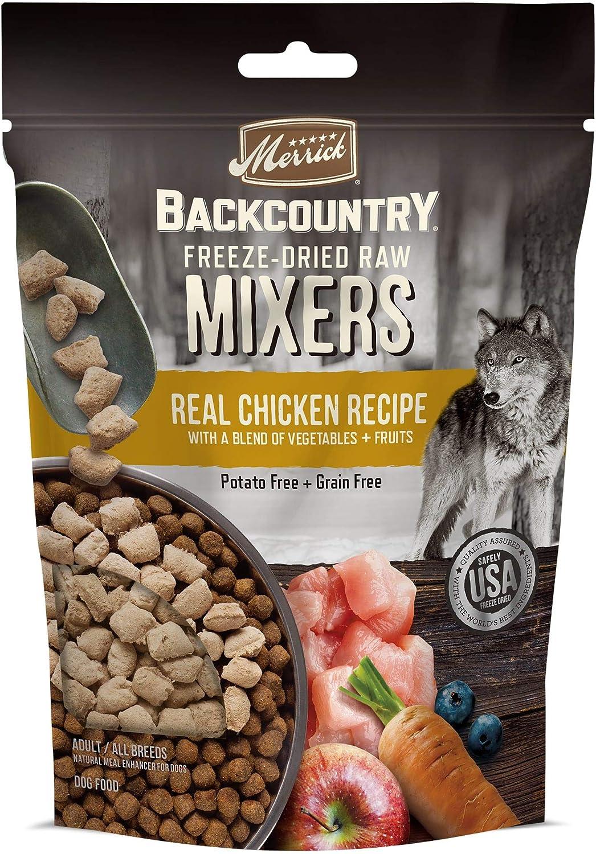 Merrick Backcountry Freeze Dried Mixer Chicken Recipe Adult Dog Food, 5.5 oz.