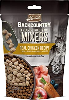 product image for Merrick Backcountry Freeze Dried Mixer Chicken Recipe Adult Dog Food, 5.5 oz.