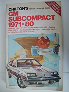 chevy vega 1971 1977 shop manual clymer service repair handbooks chilton s gm subcompact 1971 80 chevrolet vega 1971 77 chevrolet monza 1975