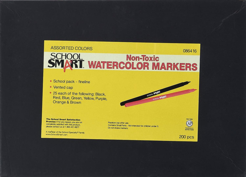 Pack of 200 Assorted Colors School Smart Art Marker Fineline Tip