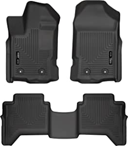 Husky Liners 94101 Fits 2019 Ford Ranger SuperCrew Weatherbeater Front & 2nd Seat Floor Mats