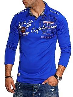 Redbridge Herren Hemd Freizeithemd Regular Fit Langarm PoloShirt Bestickt Basic