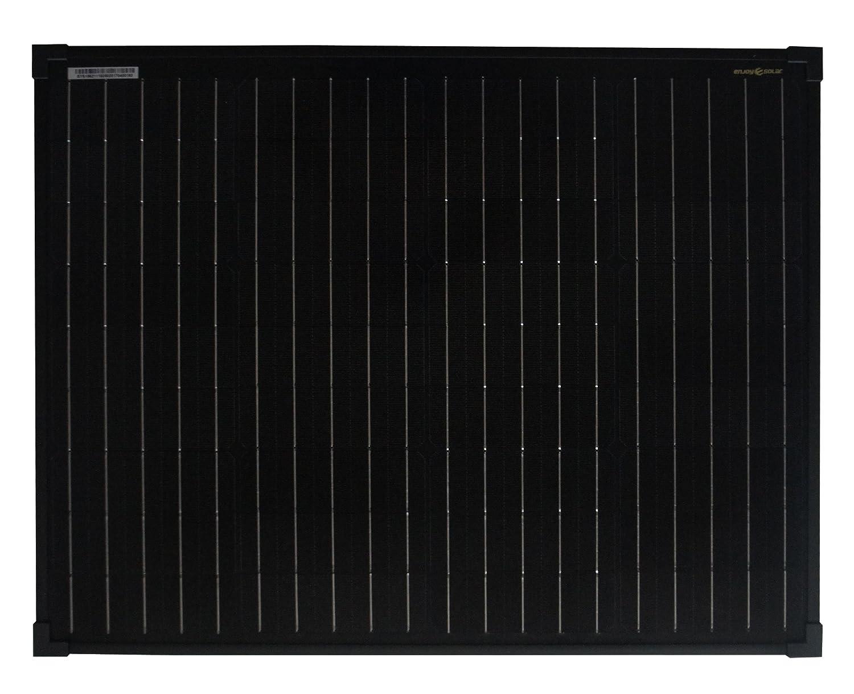 Module solaire enjoysolar® monochristallin. Noir 50W 12V Panneau solaire mono 50W Full Black Idéal pour le jardin camping-car Caravan SolarV®
