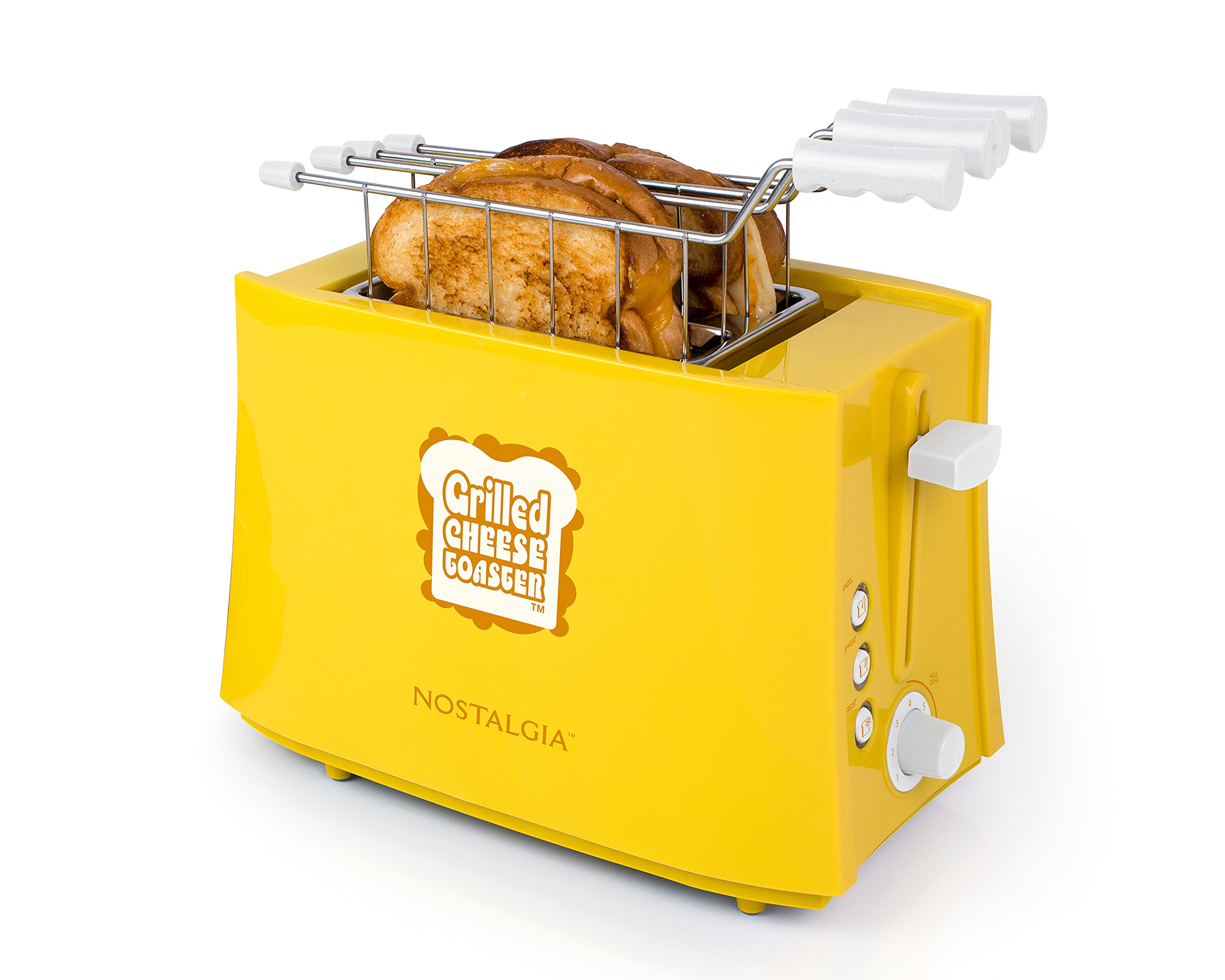 Nostalgia TCS2 Grilled Cheese Toaster with Easy-Clean Toaster Baskets and Adjustable Toasting Dial by NOSTALGIA