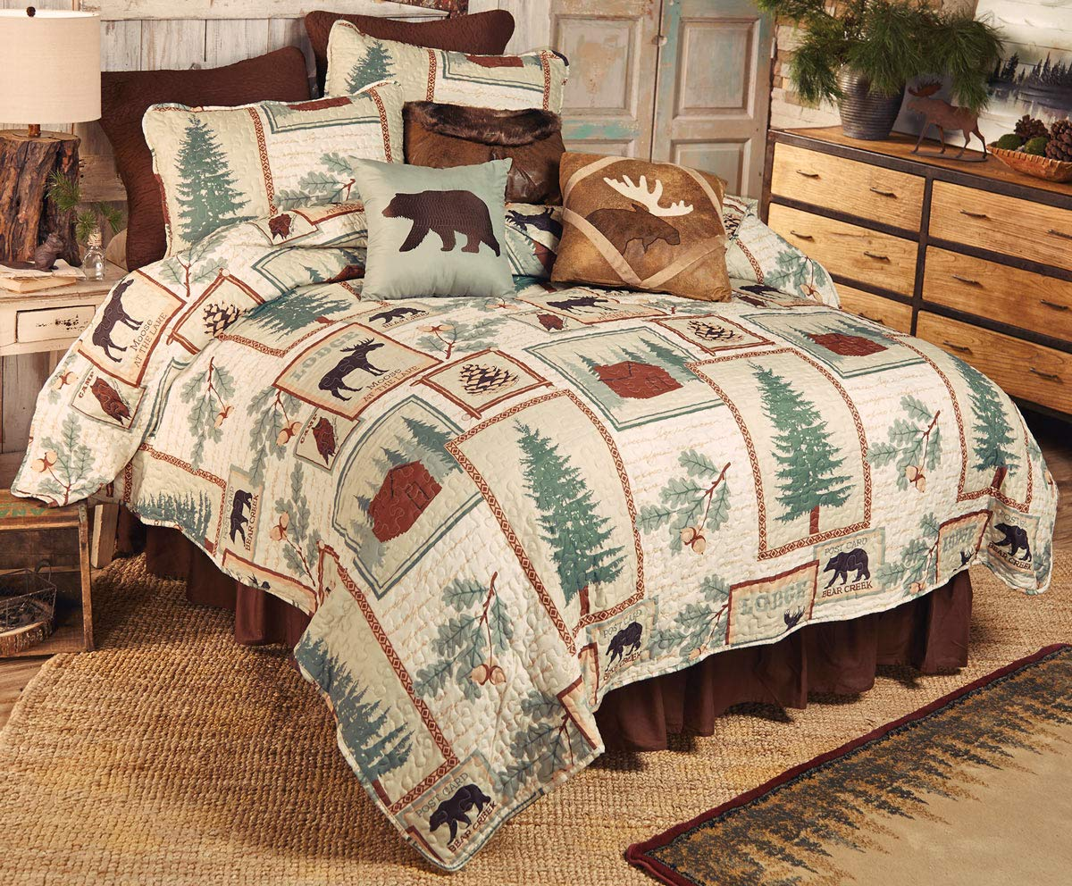 BLACK FOREST DECOR Mountain Lodge Quilt Set - Queen