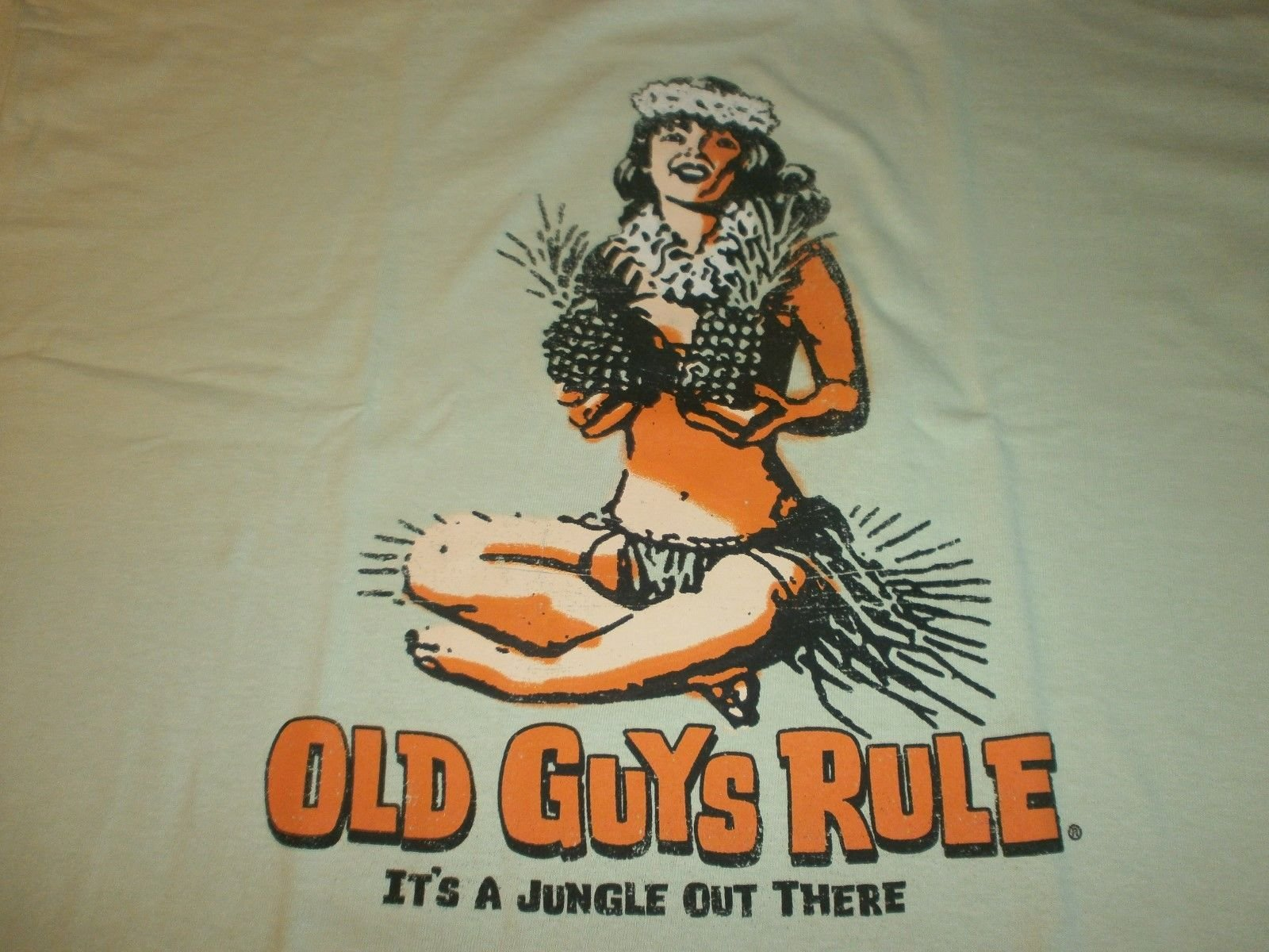 Old Guys Rule '' It's A Jungle Out There SURF Surfboard Longboard FIN S/S Size 2X
