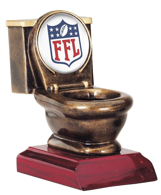 Fantasy Football FFLトイレボウルTrophy / Losers Award B074NP17H6 White Insert