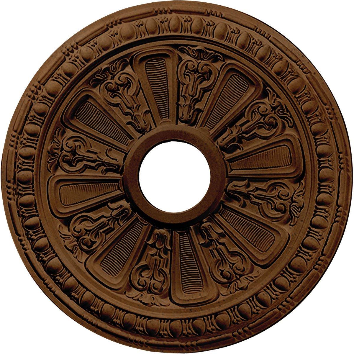 Ekena Millwork CM18RARZS Raymond Ceiling Medallion, Rubbed Bronze