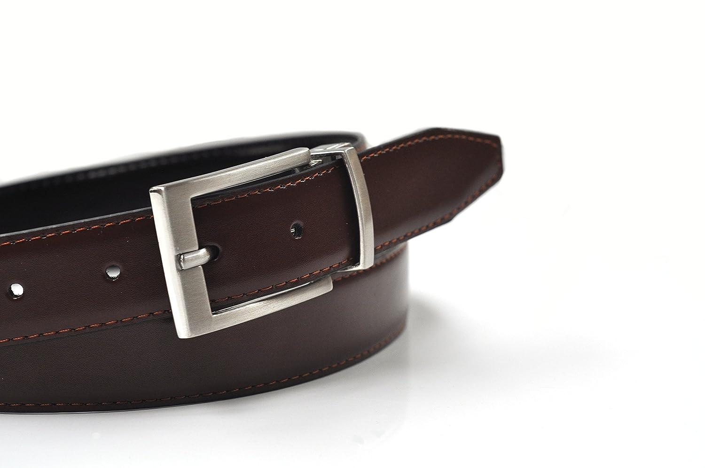 nero//marrone o nero//Blu scuro - Dimensioni 80cm- 120cm Ashford Ridge 30mm rivestito reversibile cintura di cuoio
