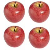 TOOGOO(R)4 grandes pommes rouges artificielles de fruits decoratifs