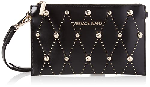Versace Jeans - Ee3vsbpe8, Carteras Mujer, Negro (Nero), 1x16x25.5