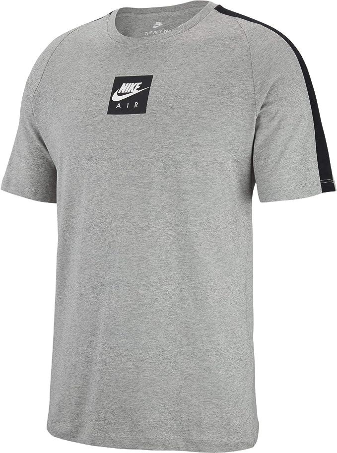 NIKE M NSW tee Cltr Air 3 Camiseta, Hombre, dk Grey Heather/Black/White: Amazon.es: Deportes y aire libre