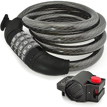 Amazon.com: Aduro - Cable de bloqueo para bicicleta ...