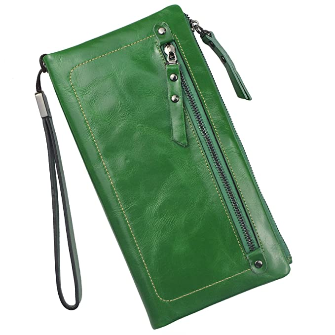 2019 professional great variety models huge selection of Bveyzi Women's Large Capacity Soft Leather Wristlet Wallet ...