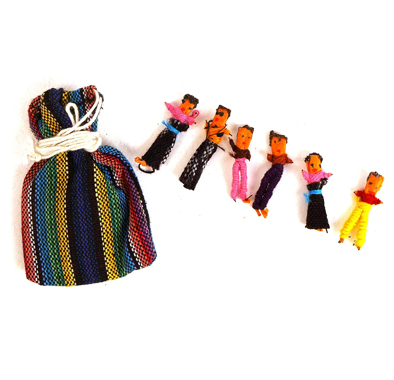 Amazon.com: Guatemala Worry Dolls - share your worries and lose ...