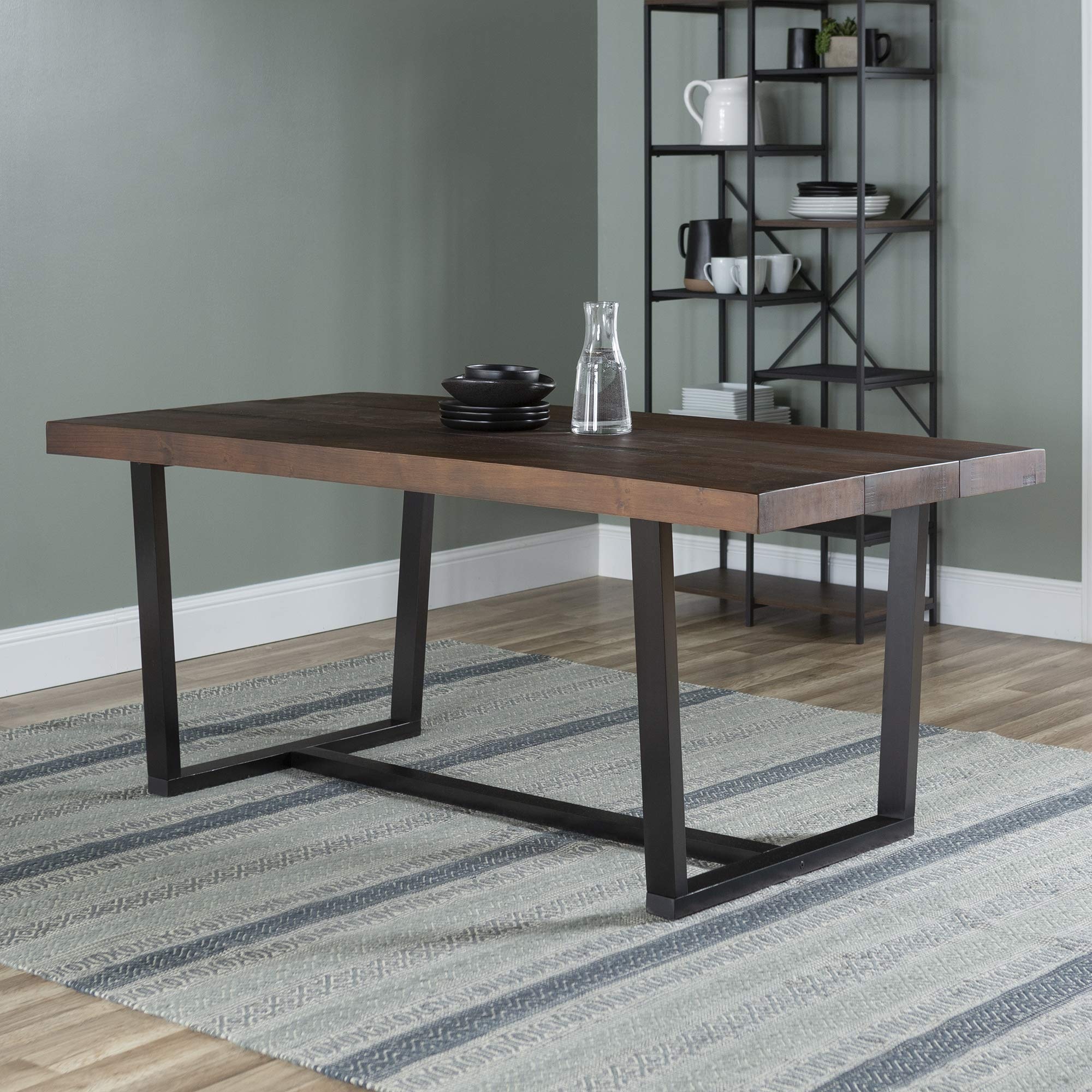 WE Furniture AZW72DSWMA Dining Table, 72'', Mahogany by WE Furniture