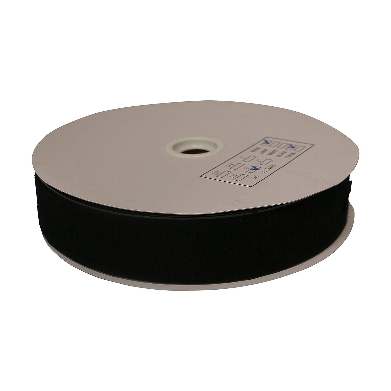 FindTape HL74-R/BLK275H HL74-R Adhesive-Backed Hook-Side Only Rolls: 2' x 75 ft, Black