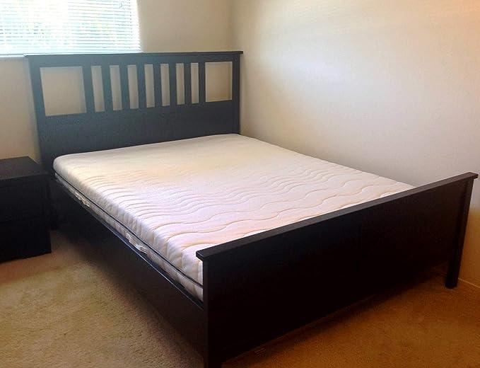 Amazon.com: Ikea Hemnes Queen Bed Frame Black-brown Wood: Kitchen ...