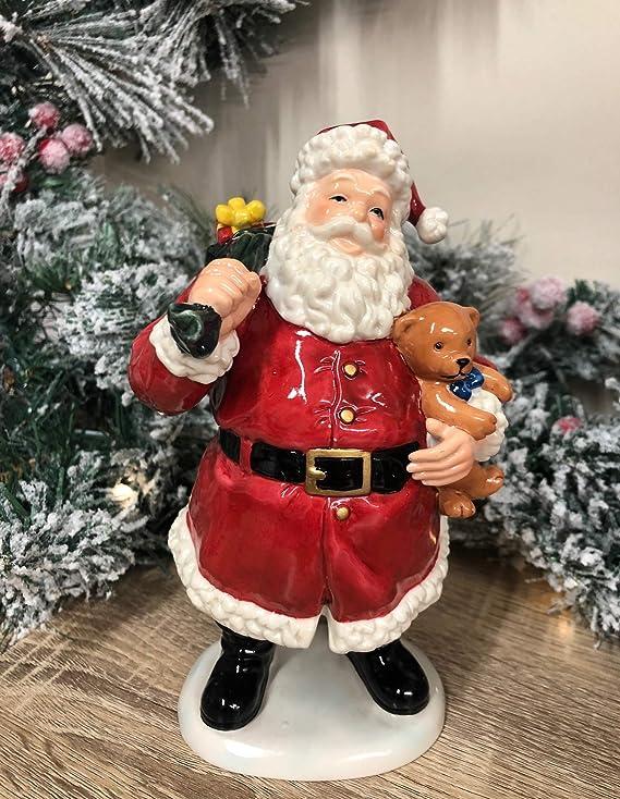 Mezzaluna Gifts Father Christmas Ceramic Santa Ornament