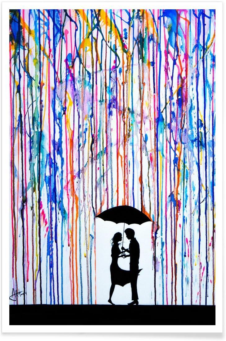 """Format : Portrait Juniqe/® Affiche 20x30cm Couples Art Romantique Autour de lamour - Poster Design /""""Touche/"""" Tirages dart /& Tableaux par des Artistes ind/épendants cr/é/é par Marc Allante"""