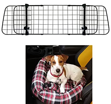 Heavy Duty Boot Liner For Jaguar XF Estate 2012-2015 Mesh Headrest Dog Guard
