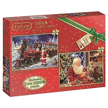 jumbo all ready for christmas jigsaw puzzle 2 x 1000 2000 piece