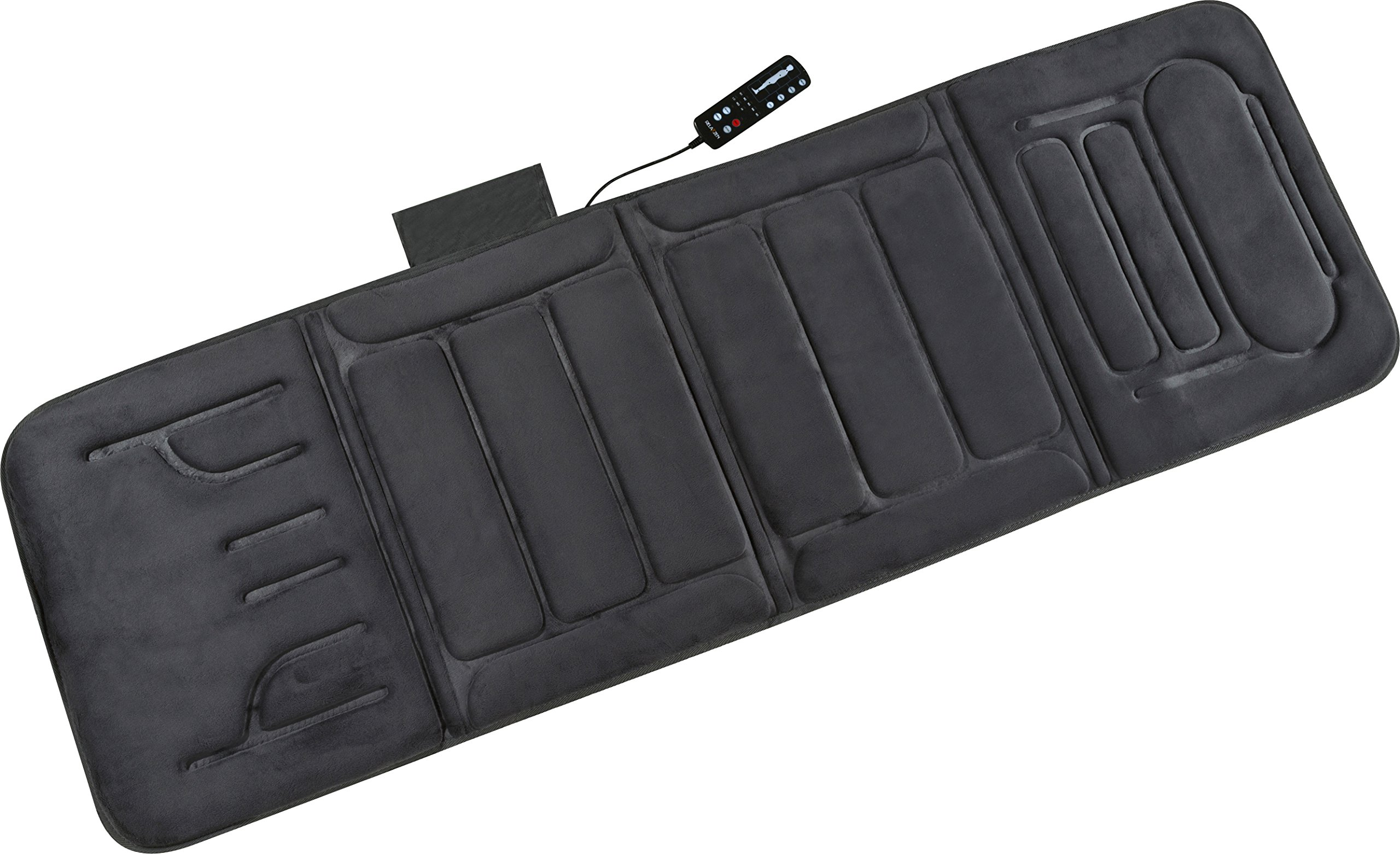 Portable Heated Massage Mat Vibrating Bed Pad Back Body