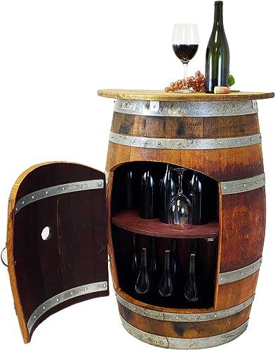 Central Coast Creations Wine Barrel Wine Rack Bar Wine Barrel Furniture Wine Barrel Stave Top