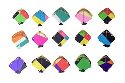 Vardhman Paper Small Kites for Decorations, Art and Craft (10x10cm) - Pack of 60
