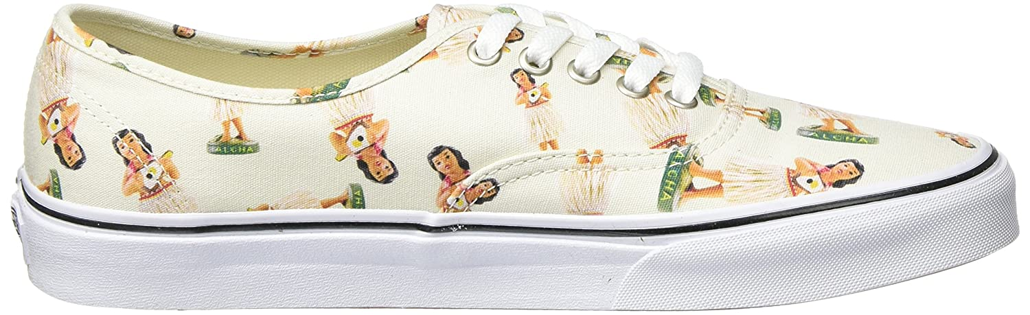 Vans Authentic B011PLZQEW 10.5 M US Women / 9 M US Men|(Digi Hula) Classic White/True White
