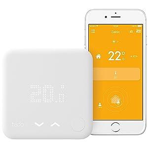 tado° Termostato Inteligente - Kit de Inicio (v3) - control inteligente de la calefacción por geolocalización y a través del smartphone