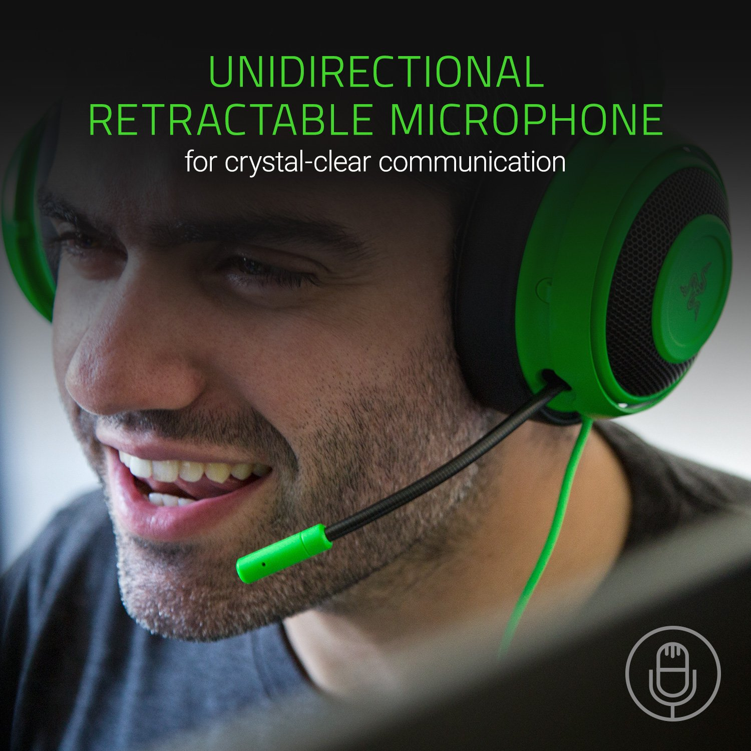 Razer Kraken Pro V2: Lightweight Aluminum Headband - Retractable Mic - In-Line Remote - Gaming Headset Works with PC, PS4, Xbox One, Switch, & Mobile Devices - Green by Razer (Image #5)