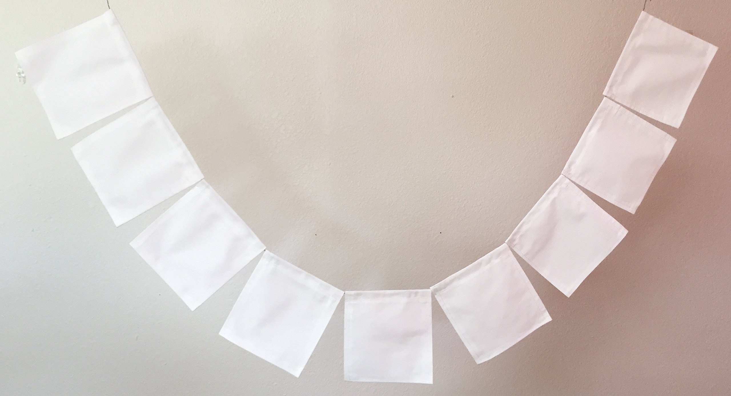 Custom Plain White Prayer Flags for Your Own Design. Free shipping. All proceeds to families in Mexico.