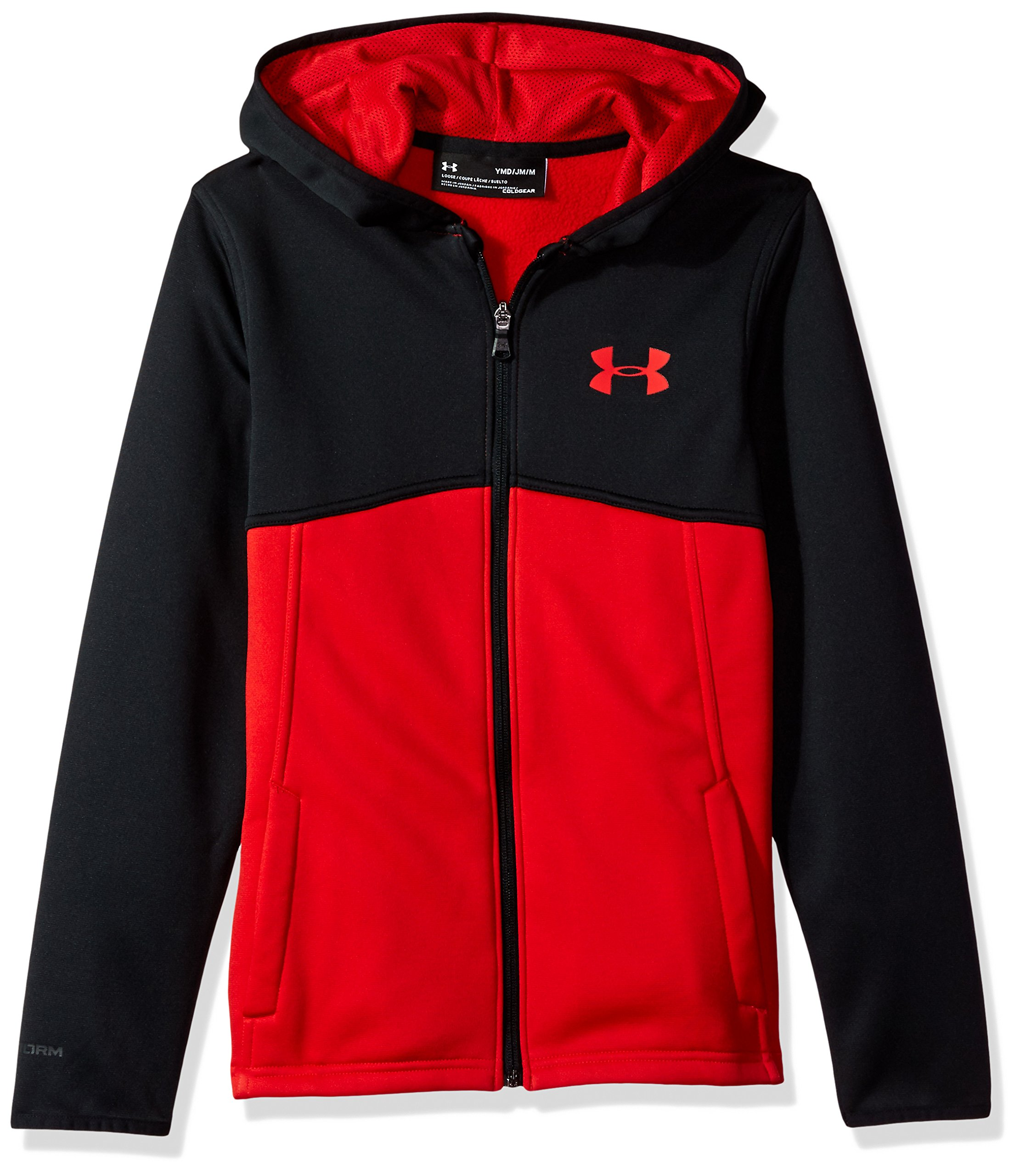 Under Armour Boys' Armour Fleece Full Zip Hoodie,Red (600)/Red, Youth X-Small
