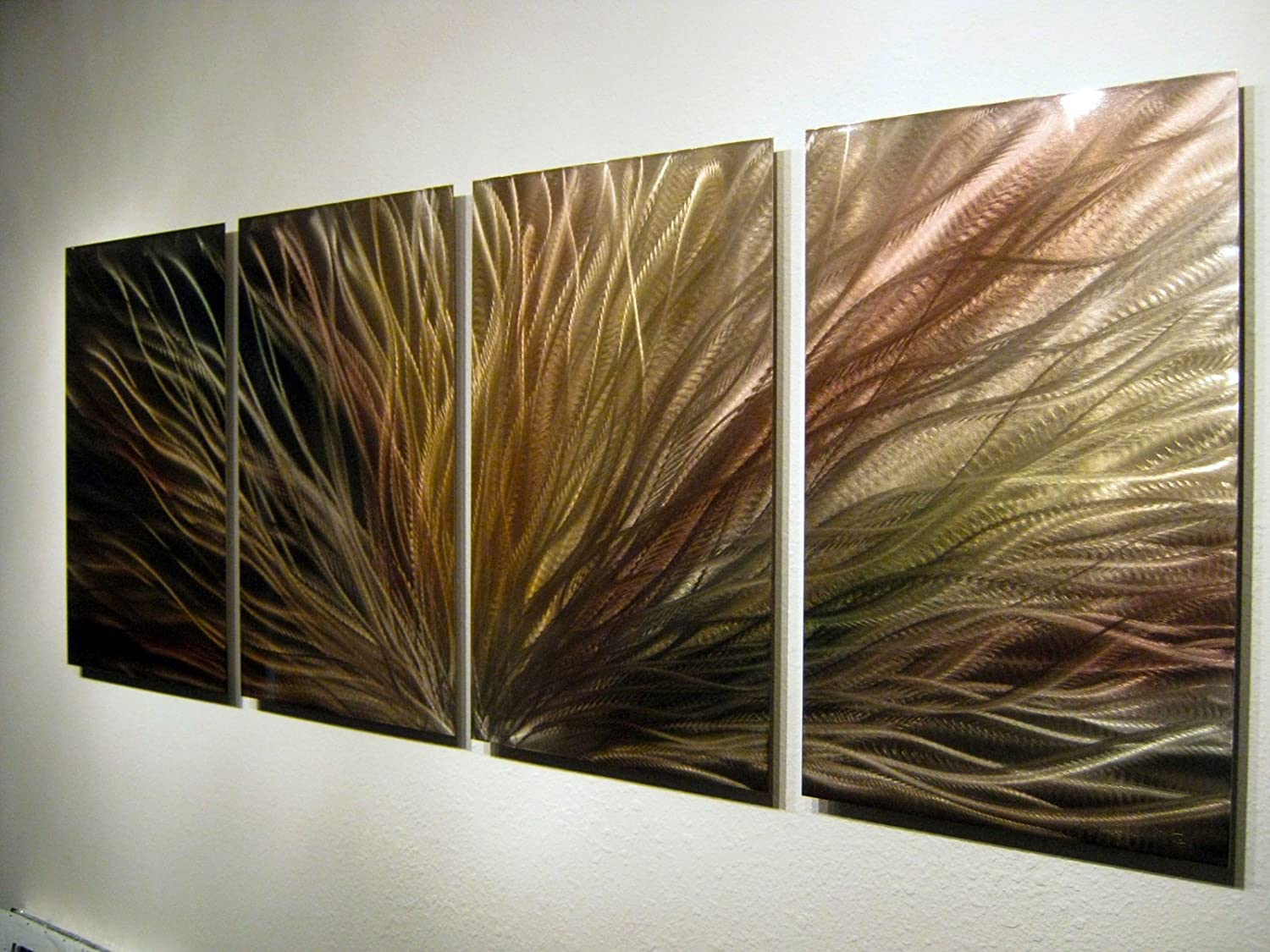 Delicieux Amazon.com: Metal Wall Art, Modern Home Decor, Abstract Wall Sculpture  Contemporary  Bronze Radiance By Miles Shay: Home U0026 Kitchen