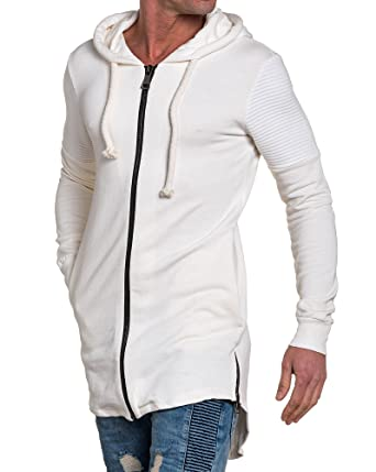 bd8ab9b8bce47 BLZ Jeans - Gilet Homme Blanc Oversize zippé - Couleur  Blanc - Taille  S