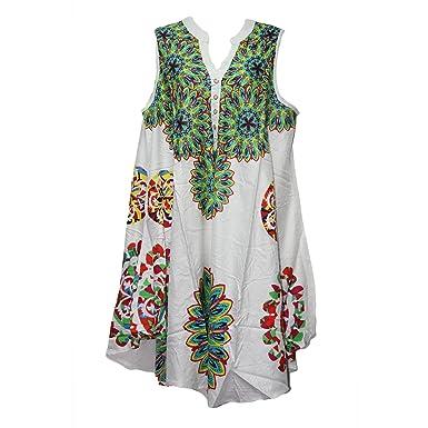 8b8f810826e Miss Trendy Women Dress Tunic Ladies Indian Summer Beach Top Kaftan Hippie  Boho Party Dress (