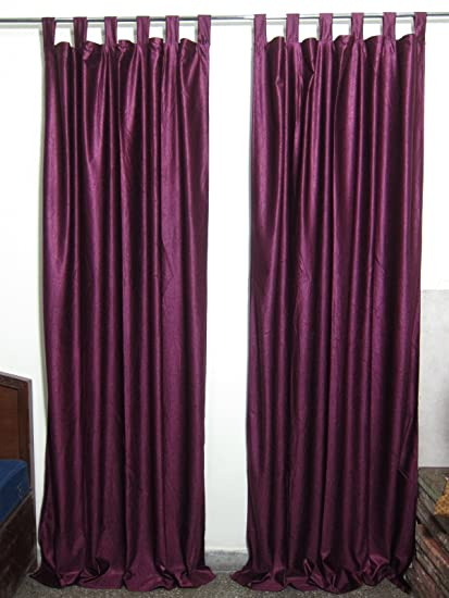 Mogul Moroccan Curtains Solid Purple Drapes Panels Pair Window Treatment Ideas Length96quot