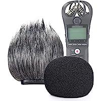 SUNMON - Filtro de espuma y protector de parabrisas peludo para grabadora Zoom H1n y H1, cubierta de espuma para…