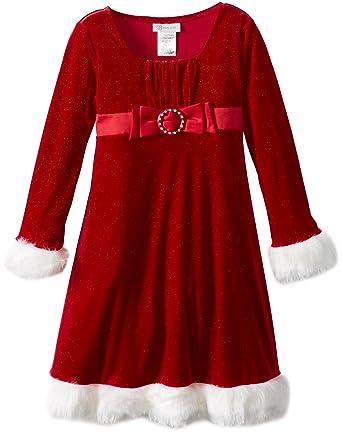 Amazon.com: Bonnie Jean Big Girls' Little Miss Santa: Special ...