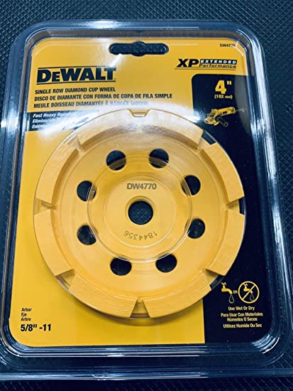 "DeWalt DW4770 4"" XP Turbo Diamond Cup Wheel Extended Performance"