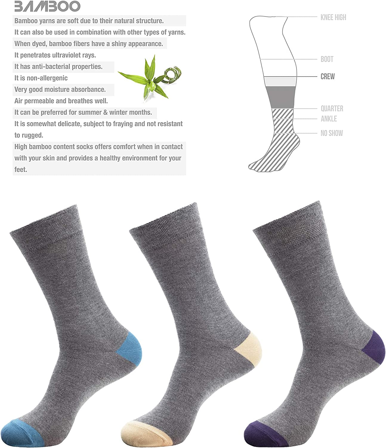 Ladies Bamboo Anti Bacterial Breathable  Colourful Ankle Socks Size 3-6