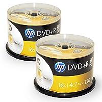 HP 100-disc DVD+R 16x Logo Top (2 x 50pk Spindle)