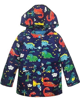 f970efe6c Amazon.com: YNIQ Boys' Lightweight Dinosaur Print Raincoats: Clothing