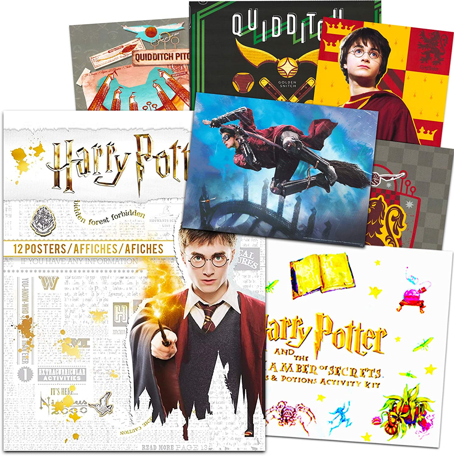 Harry Potter Poster Book Super Set ~ 12 Harry Potter Posters Featuring Harry, Ron, Hermione, and More (Harry Potter Room Decor)