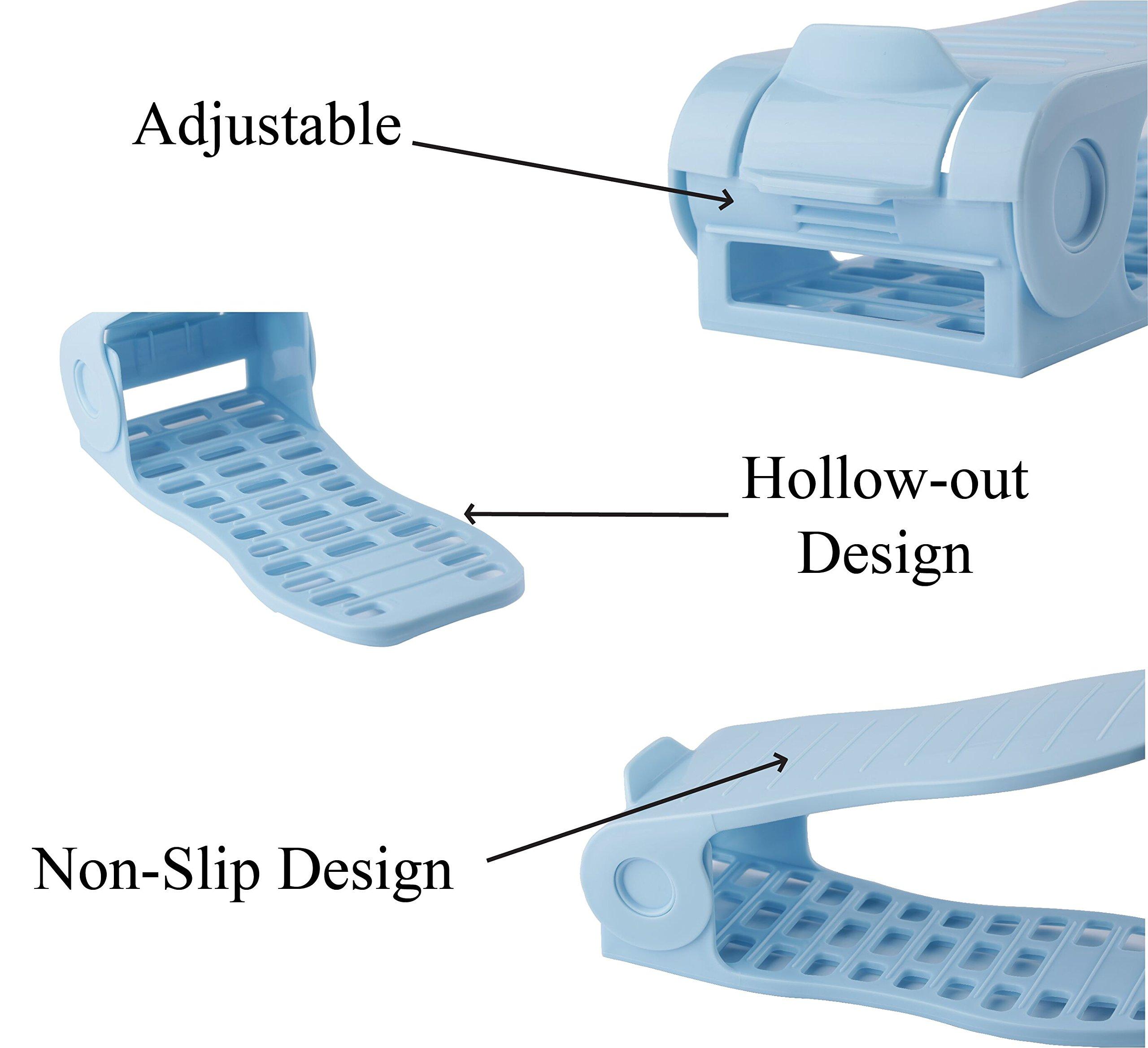 Mouselemur Shoe Slots Space Saver Shoe Stand Organizer | Adjustable Shoe Rack 6 Piece Set by Mouselemur (Image #5)