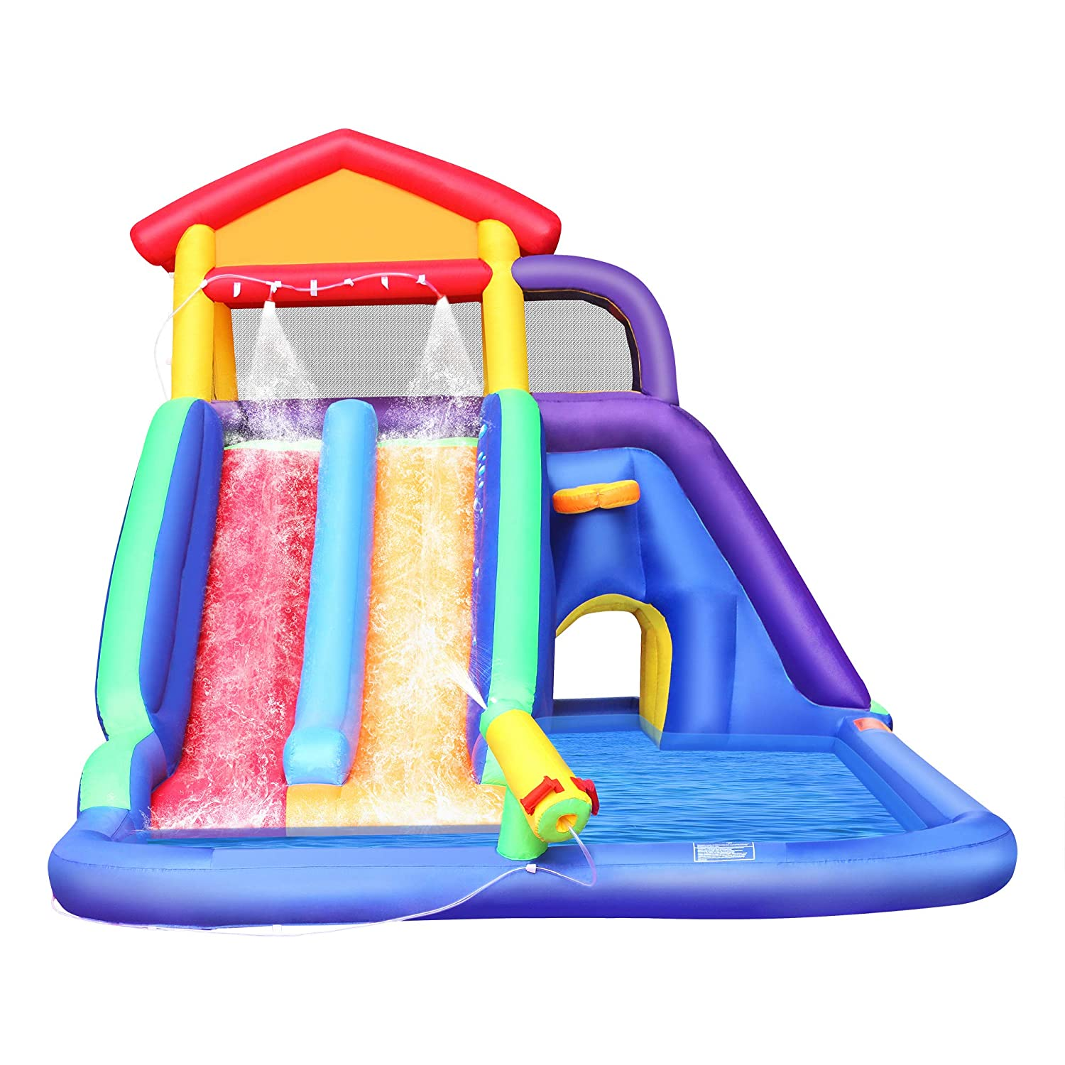 with Blower Pool Water Slide for Toddler Bouncy Splash Park for Outdoor Fun BestParty Inflatable Kids Water Slide