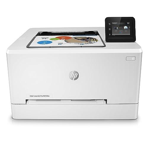 HP Laser Jet Pro M254dw Impresora color hasta 21 ppm ethernet y Wi Fi pantalla táctil en color de 6 9 cm 800 MHZ inalámbrico DDR de 128 MB disco duro de 2 GB Windows 7 8 8 1 y 10 blanco